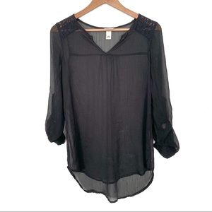 Mossimo sheer peasant blouse. (3 for 20)